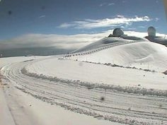 Check out all the snow at the Big Island.  Mauna Kea, Hawaii