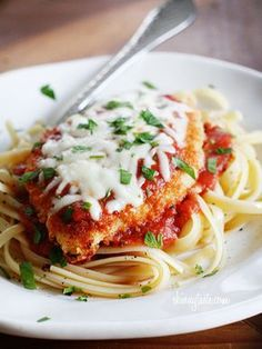 Baked Chicken Parmesan. Just had this for dinner--- delicious and easy.