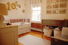 Antique and vintage baby boy nursery. Tallow Studio