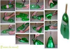 This is a good creation a broom out of a softdrinks bottle very creative