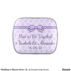 Wedding or Shower Favor- Dinner Mints Jelly Belly Candy Tins