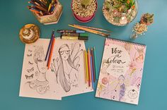 """Bloco """"Vem Colorir"""" criado pela ilustradora brasileira Amanda Mol;"""