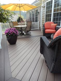 AZEK Kona and Sedona rich brown brown composite deck colors + stunning red…