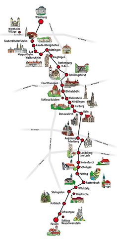 Carte de la route romantuque