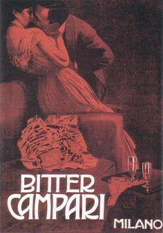 Marcello Dudovich (1878-1962, Italy) | Bitter Campari (il bacio rosso), 1901