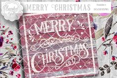 Vintage Merry Christmas ~ Cutting Design By Sparkal Designs