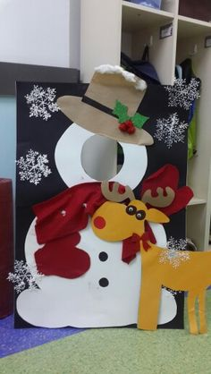 48 Lovely Diy Kids Room Christmas Décor Ideas - Welcome my homepage Christmas Door, Christmas Crafts For Kids, Christmas Activities, Xmas Crafts, Christmas Photos, Christmas Projects, Christmas And New Year, All Things Christmas, Christmas Time