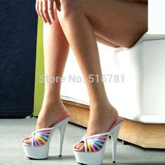 Image result for 6 inch high heel mules