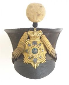 East India Company Indian Army. 56th Bengal Native Infantry Officer's bell top shako circa 1829-35.
