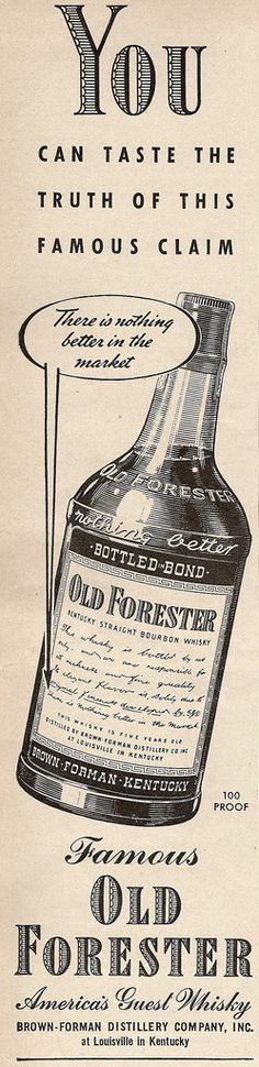 Old Forester Bourbon Whiskey 1942