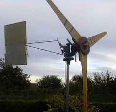 """Using an automotive alternator to construct a wind-powered electrical generator can reduce or eliminate dependency on """"grid"""" power, even if the wind turbine is only..."""