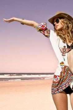 Isshella Kimono Cream - Arnhem Clothing