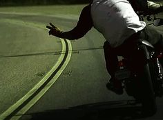 Love that most motorcyclist know to do this with each other.  respect. :))