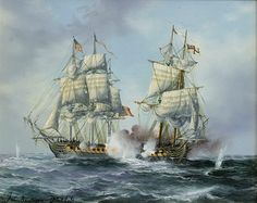 USS Essex under Commodore David Porter Sailboat Art, Nautical Art, Sailboats, Uss Intrepid, Barbary Coast, Old Sailing Ships, Uss Constitution, Ship Of The Line, Tug Boats