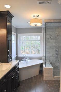 Marble Master Bathroom: The Details | DIY Home Decor Ideas ... on master bathroom clawfoot tub, master bathroom corner tub, master bathroom claw tub,