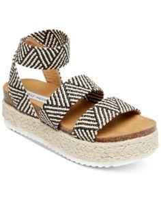 eb7b791f684ee Steve Madden Women s Kimmie Flatform Espadrille Sandals - Black Espadrille  Sandals