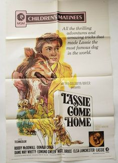 LASSIE COME HOME Original Movie Poster One Sheet 1971 ReRelease Roddy McDowell Elizabeth Taylor, Pets Movie, I Movie, Vintage Movies, Vintage Posters, You Never Can Tell, Metro Goldwyn Mayer, Atlanta Journal, Famous Dogs