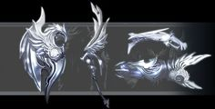 Aion, weapon (I like the very left part for something like a head for a halberd or long-handled axe)