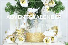 Adventskalender Gold // Advent Calendar Mason Jar