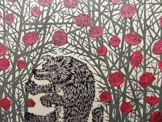 The sumptuous and the sinister. Great woodcut from Tugboat printshop