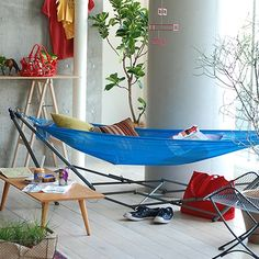 ハンモック&スタンド ブルー: グリーン・ガーデン デザイン家具 インテリア雑貨 - IDEE SHOP Online