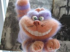 The Cheshire cat felted toy by DollsDarya