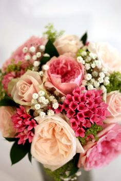 Mixed Pink And Green Bridal Bouquet Surrey Wedding Flowers By Boutique Blooms Floral Design