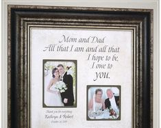 Father Mother Gift from Bride and Groom, Parents Wedding Day Gifts for Mom and Dad Thank You Gift For Parents, Wedding Gifts For Parents, Wedding Thank You Gifts, Gifts For Mom, Mother Of The Groom Gifts, Father Of The Bride, Mother Gifts, Anniversary Decorations, Wedding Quotes