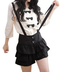 """Sweet cute straps skirts culottes If you want to buy this skirt use this coupon code """" Nikola """" to get all 10% OFF"""
