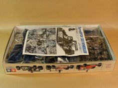 Rare Scale Model Kit Collection - Tyrrell P34 Six Wheeler (1974) - Tamiya 1/12 plastic model kit - Box Contents Overview