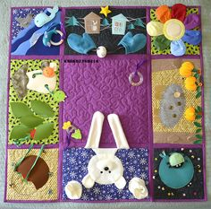 Baby Sewing Projects, Sewing For Kids, Baby Play, Baby Toys, Fidget Blankets, Fidget Quilt, Quiet Book Patterns, Felt Quiet Books, Fabric Toys