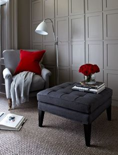 The sofa.com Club ottoman in Granite soft wool  - $420
