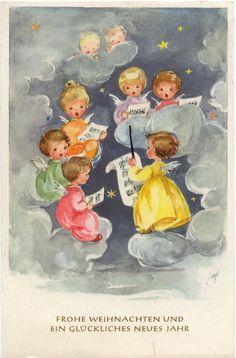 Ak - Fröhliche Weihnachten! Ein Engelschor | eBay