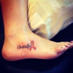 Grandpa tattoo leukemia ribbon.  This is the one I'm getting, but putting Nicole's name.