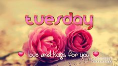 Tuesday love and hugs for you | Happy Tuesday Graphics | Days of the Week Graphics Tuesday Images Pics Comments for Facebook Instagram Myspace Pinterest