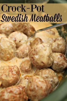 Super Simple Crock-Pot Swedish Meatballs Super Simple Crock-Pot Swedish Meatballs Looking for an easy main dish or appetizer? Try this recipe for Crock-Pot Swedish Meatballs. They taste great on their own or served over egg noodles. Swedish Meatball Recipes, Swedish Meatball Appetizer Recipe, Meatball Dinner Ideas, Meatball Meals, Meatball Dish, Frozen Meatball Recipes, Grape Jelly Meatballs, Crock Pot Meatballs, Swedish Meatballs Crockpot Easy
