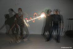 light painting-rayo láser