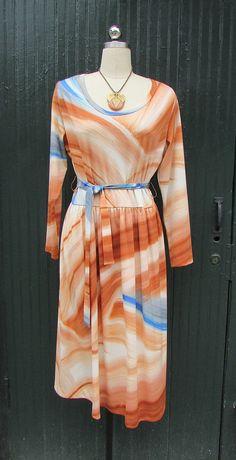 KNIT PICK 1970's Lanvin Jersey Knit Dress Large by lovestreetsf