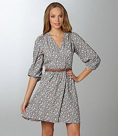 Willow & Clay Floral Belted Dress | Dillards.com