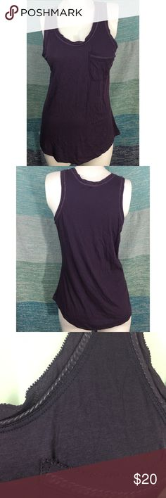 "Theory Purple Pocket Mesh Chainlink Tank Top Shirt Excellent used condition without flaws. Cute pocket tank top with actual chain link and mesh detail. Very lightweight. 26"" Long, 30"" bust. Theory Tops Tank Tops"