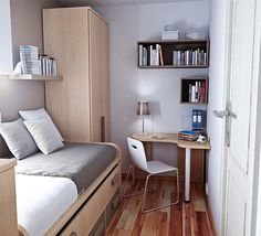 modern bedroom design small spaces - Google Search