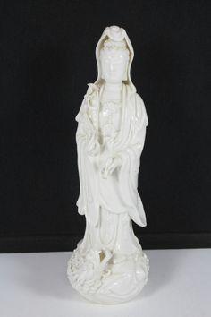 Chinese Dehua Porcelain Buddha Stand Dragon Statue Figurine