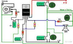amplificador tda2050 fuente dual