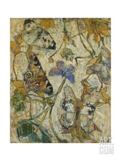Butterflies; Les Papillons, 1918 Giclee Print by Josef Albert at Art.com