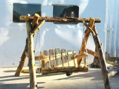 log swings | Log Furniture Gallery--Benches-Swings