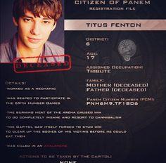 Citizen of Panem Registration File : Titus Fenton