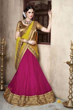 DesiButik Party Wear Pleasant Pink Soft Net Lehenga