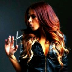 Red blonde ombre hair! This looks so cool! Wish I could do this!