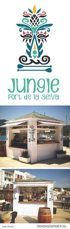logo design for surfschool and beach bar Jungle in port de la selva #logo #design #surf