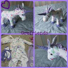 Babygro keepsake Unicorn - handmade in the UK by www.grofriends.co.uk #handmade #keepsake #unicorn #baby